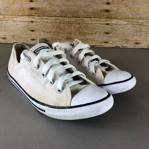 Converse White Low Top Sneakers Sz 8
